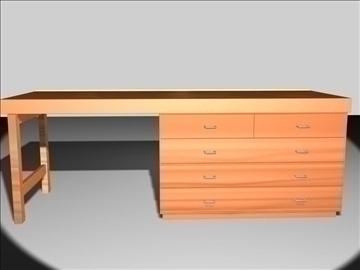wooden desk 3d model max 96567