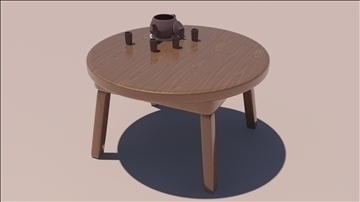 wooden table 3d model max 111814