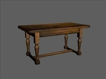 wooden table (medieval) 3d model max 94395