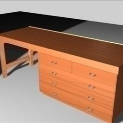 Wooden desk ( 45.29KB jpg by andycraig )