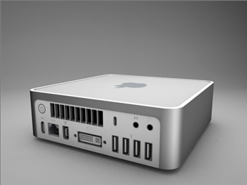 jabolko mac mini 3d model 3ds dxf fbx c4d x obj 85266
