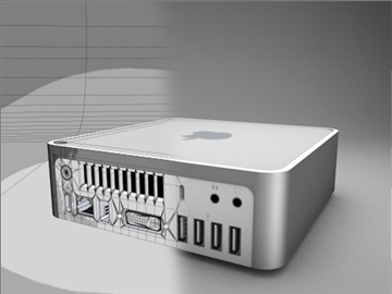 apple mac mini 3d model 3ds dxf fbx c4d x obj 85268