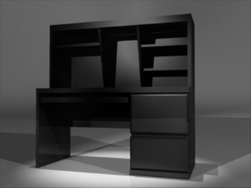 computer desk 3d model 3ds dxf lwo 81097