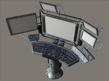 компјутерски терминал (scifi) 3d модел 3ds макс jpeg jpg lwo obj 108820