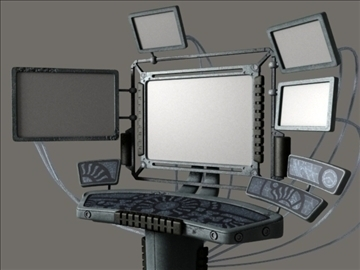 computer terminal (scifi) 3d model 3ds max jpeg jpg lwo obj 108823