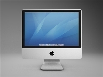 gen 4 apple imac 3d model 3ds dxf fbx c4d x obj 84413