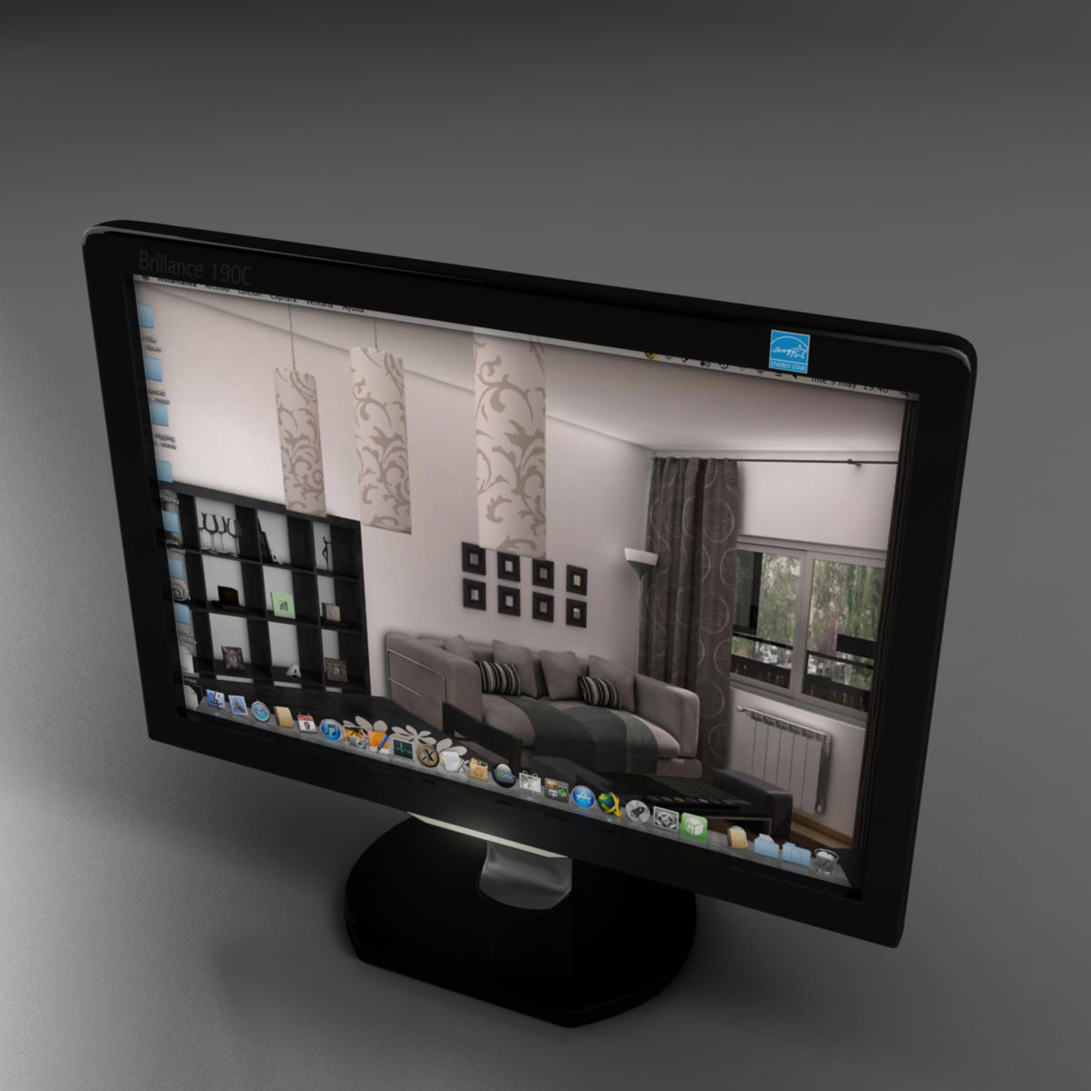 pantalla tft 3d model 3ds max fbx mb obj 155956