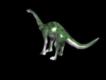 aptosaurus 3d model 3ds yn cyfuno lw obj 90921