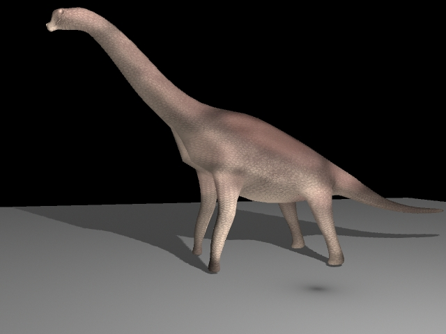 brachiosaur 3d model ma mb 117428