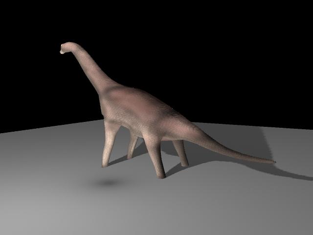brachiosaur 3d samhail ma mb 117429