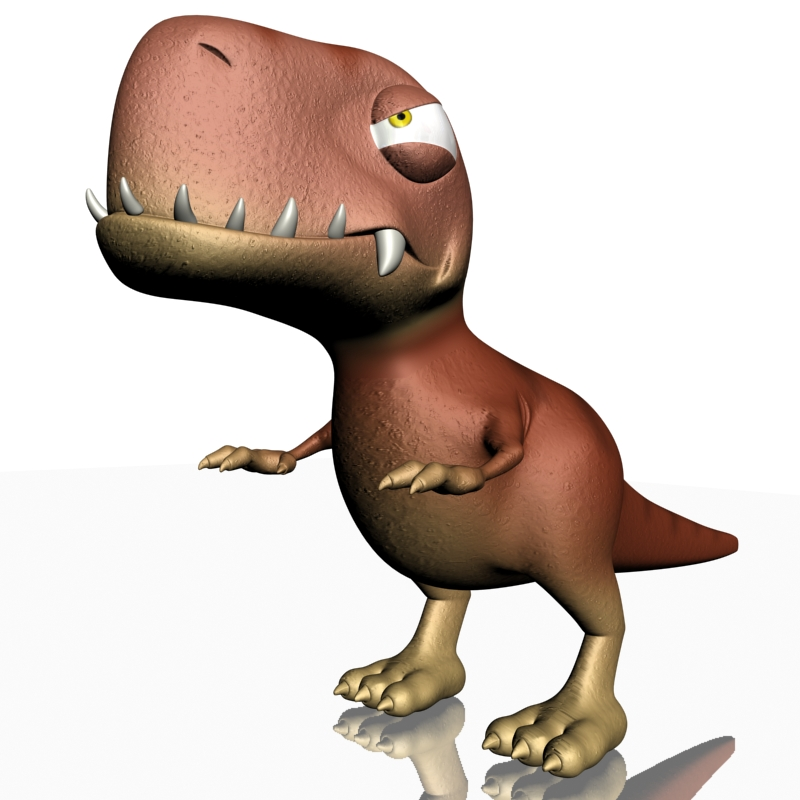 karikatūra t-rex 3d modelis 3ds max fbx lwo obj 142073
