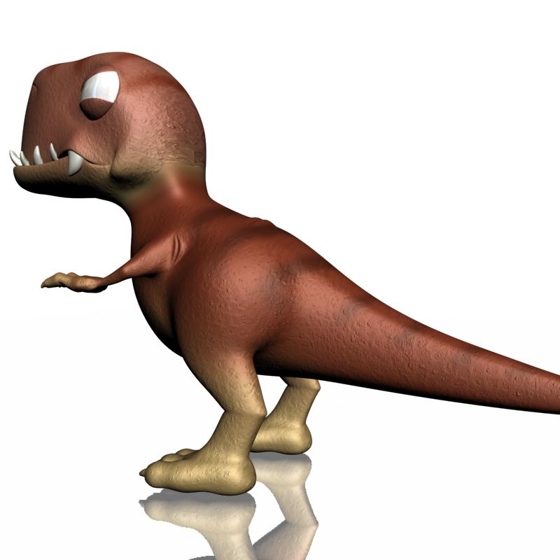 karikatūra t-rex 3d modelis 3ds max fbx lwo obj 142074