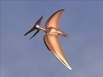 pterosaur 3d model 3ds max blend lwo obj 109692