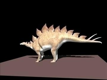 stegosaurus 3d model blend obj 91160