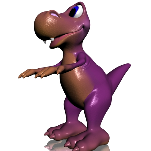 young cartoon dinosaur rigged 3d model 3ds max fbx lwo obj 112427