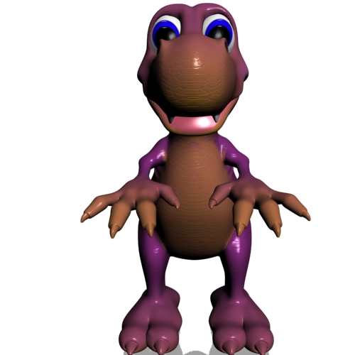 young cartoon dinosaur rigged 3d model 3ds max fbx lwo obj 112428