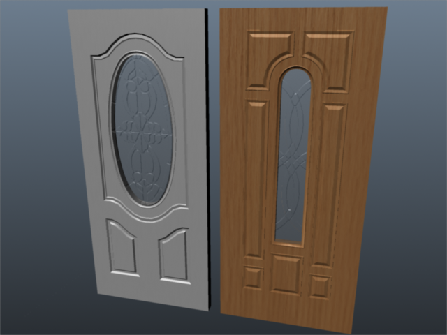 exterior door set 001 3d model 3ds max ma mb 102064