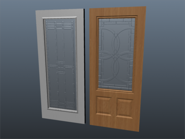 exterior door set 001 3d model 3ds max ma mb 102065