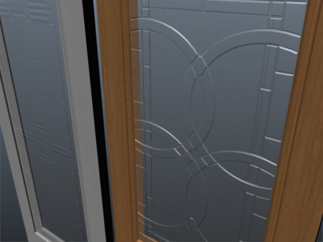 exterior door set 001 3d model 3ds max ma mb 102070