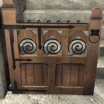 gothic gate 3d model 3ds max cob c4d lwo obj 85044