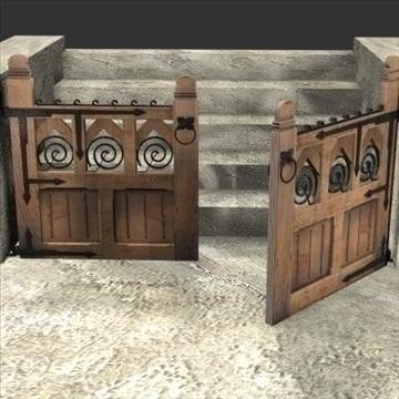 gothic gate 3d model 3ds max cob c4d lwo obj 85047