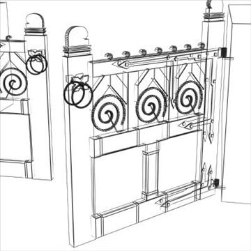 gothic gate 3d model 3ds max cob c4d lwo obj 85048