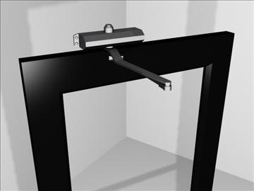 metal door hydraulic hardware 3d model 3ds max wrl wrz obj 109067