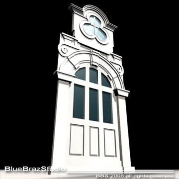 old style portal 3d model 3ds dxf c4d obj 92721