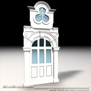 old style portal 3d model 3ds dxf c4d obj 92722