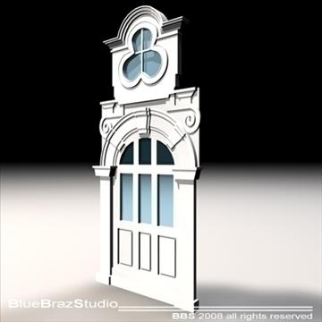 old style portal 3d model 3ds dxf c4d obj 92723