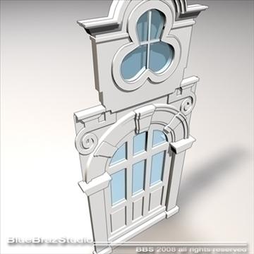 old style portal 3d model 3ds dxf c4d obj 92725