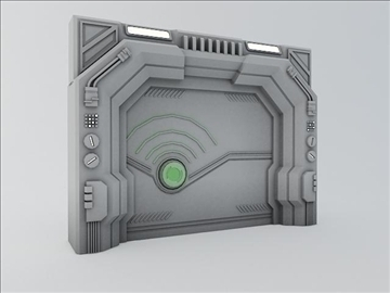 sci fi door 3d model 3ds max fbx obj 107070
