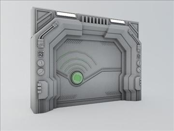 sci fi vrata 3d model 3ds max fbx obj 107070