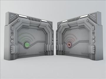 sci fi door 3d model 3ds max fbx obj 107071