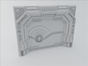 sci fi door 3d model 3ds max fbx obj 107072