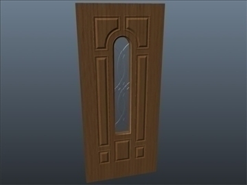 terracourt center arch fiberglass door 3d model 3ds max ma mb 102088