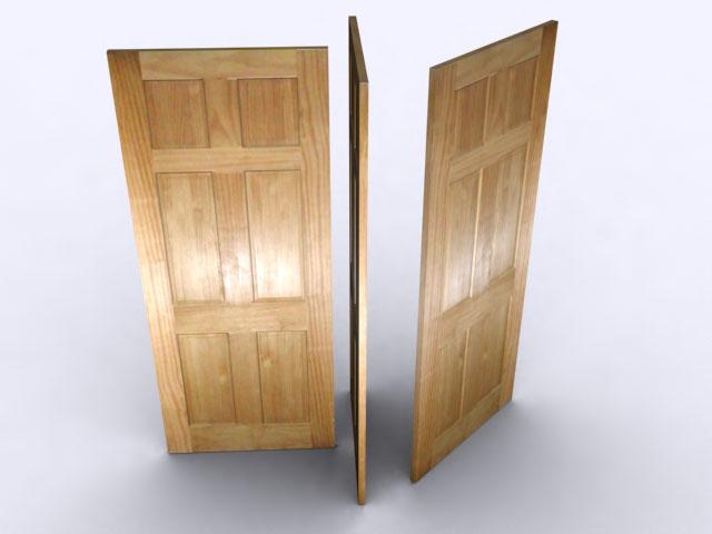 model 3d pintu kayu max 129240