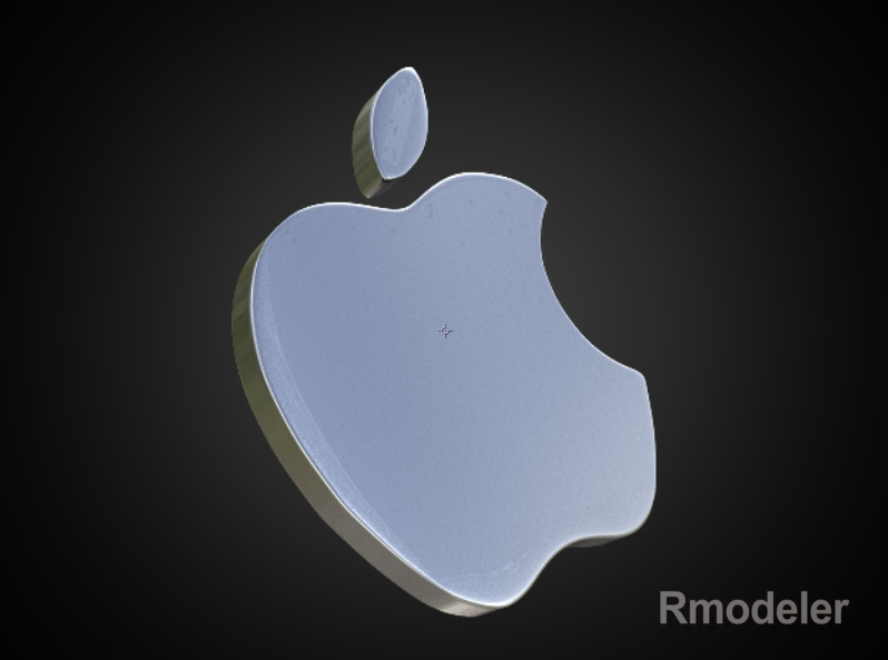 apple 3d logo 3d model dae ma mb obj 118758