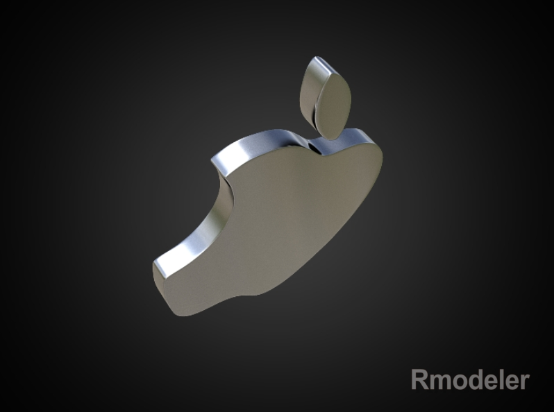 apple 3d logo 3d model dae ma mb obj 118760