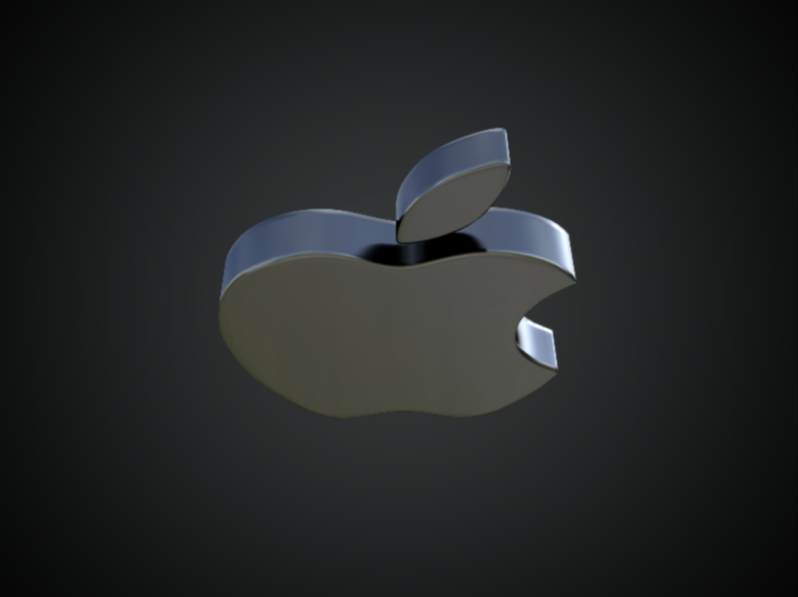 apple 3d logo 3d model dae ma mb obj 118762