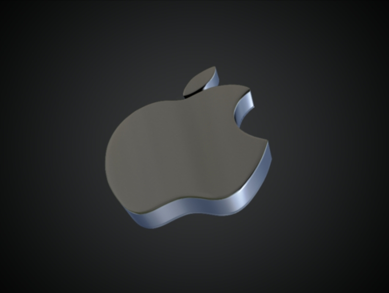 apple 3d logo 3d model dae ma mb obj 118763