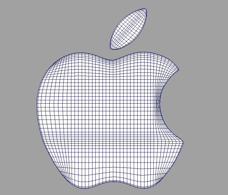 apple 3d logo 3d model dae ma mb obj 118764