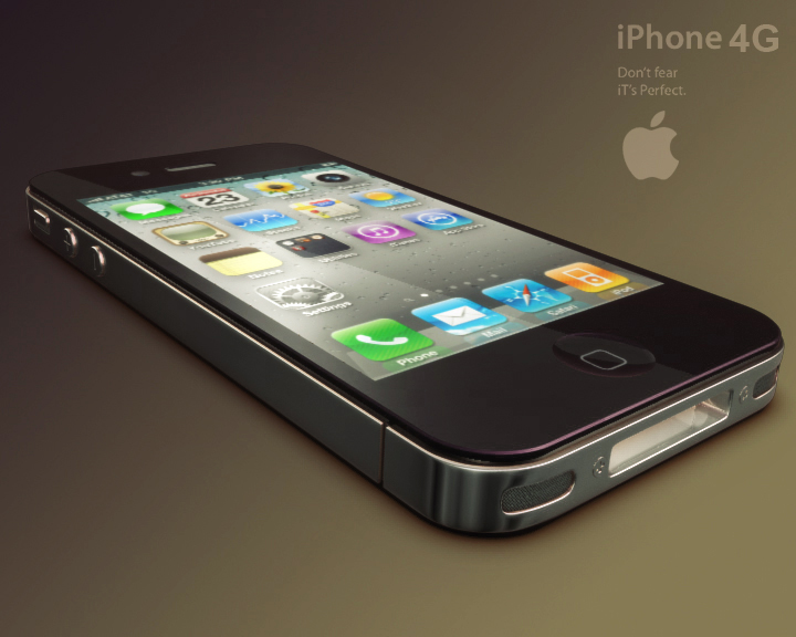 Apple iPhone 4g 3ds макс 3d модел 3ds макс fbx obj 116643