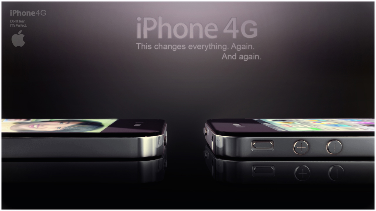 apple iphone 4g 3ds max 3d model 3ds max fbx obj 116644