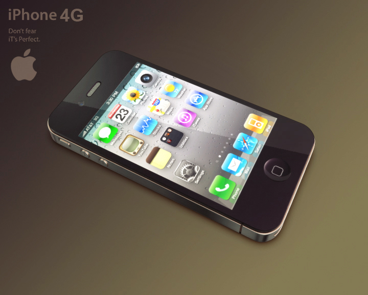 apple iphone 4g 3ds max 3d model 3ds max fbx obj 116645