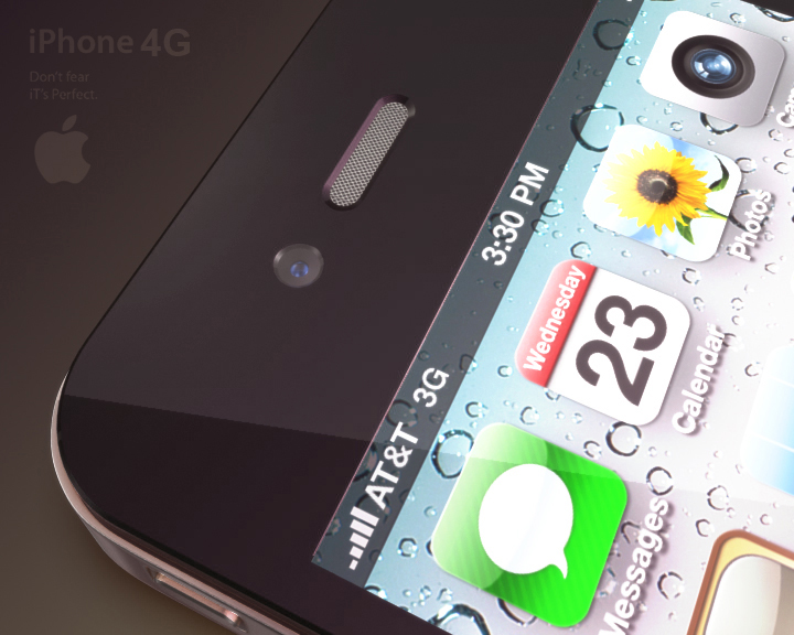 apple iphone 4g 3ds max 3d model 3ds max fbx obj 116646