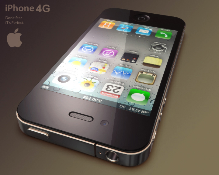 apple iphone 4g 3ds max 3d model 3ds max fbx obj 116647