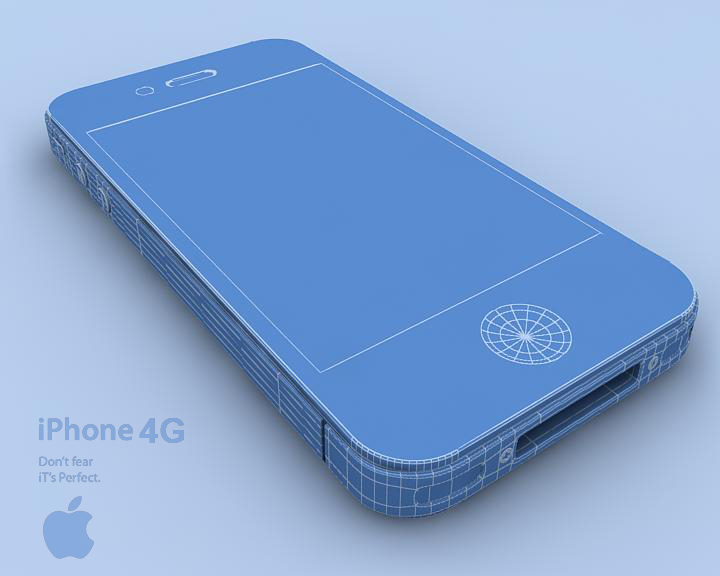 apple iphone 4g 3ds max 3d model 3ds max fbx obj 116654