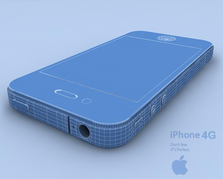 apple iphone 4g 3ds max 3d model 3ds max fbx obj 116655