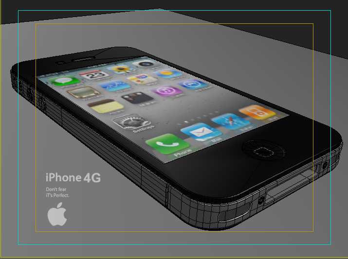 apple iphone 4g 3ds max 3d model 3ds max fbx obj 116656
